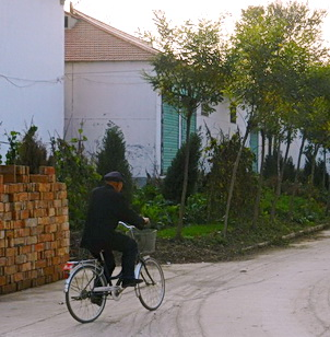 Cycling in village area, Changzhi, China 2011. Photo by HJEH Becker